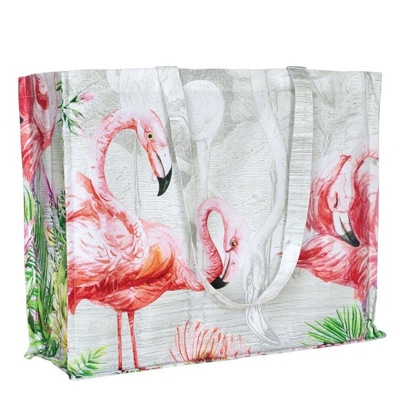 Michel Design Works Designer Flamingo Tote Bag